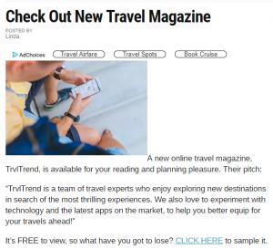Travel Content | Travel Trend Magazine